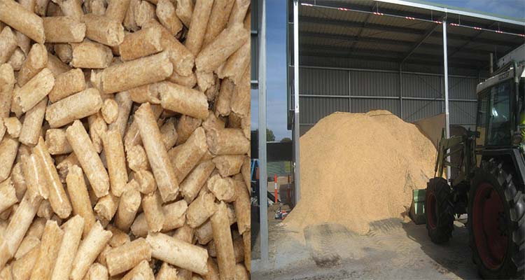 stored sawdust and pellets in Australia