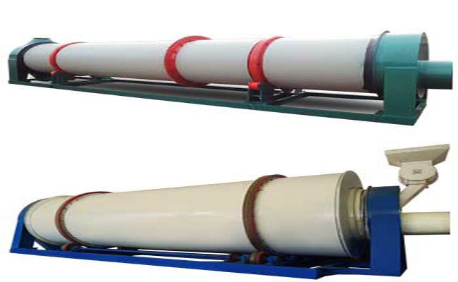three-layer rotary dryer and single layer rotary dryer