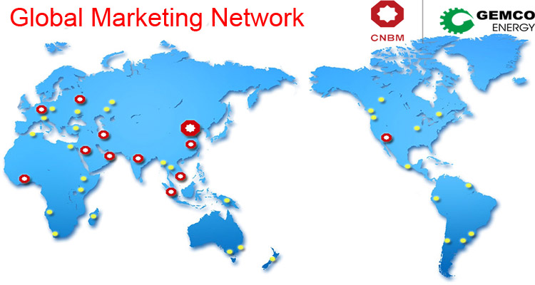 the marketing network of CNBM & GEMCO