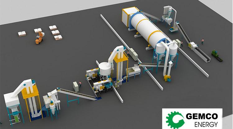 3D biomass pellet plant design