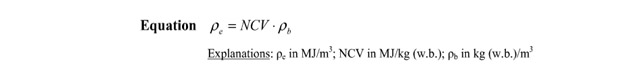 a picture of the biomass pellet energy density equation