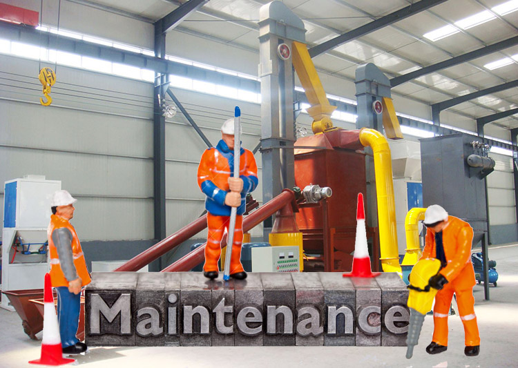 a picture of pellet mill maintenance
