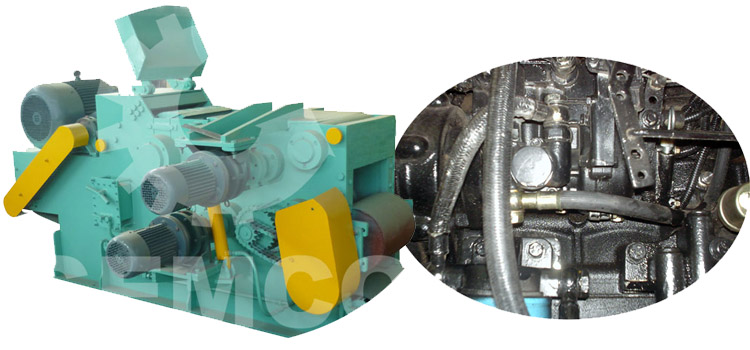 a picture of wood chipper oil pump