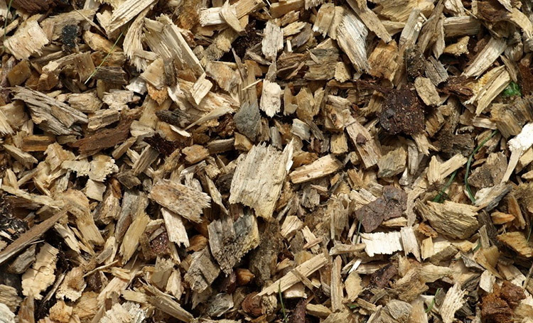 a picture of the unexpected wood chip size