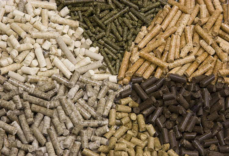 a picture of biomass pellets