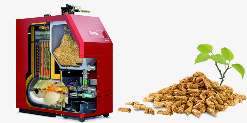 a picture of industrial biomass pellet boiler