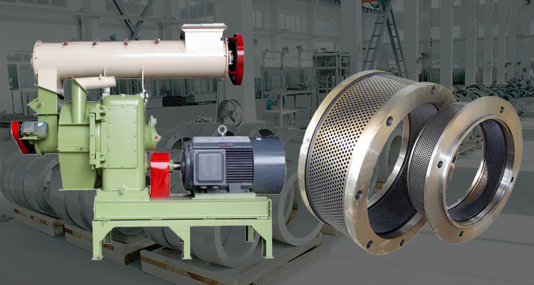 a picture of pellet mill and ring die
