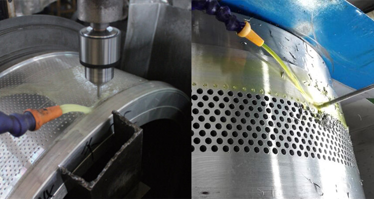 pore opening process of ring dies