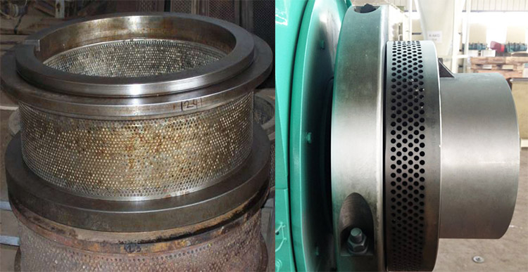 a picture to compare rotten and clean ring die