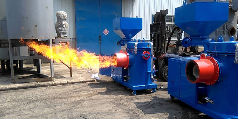 a picture of industrial wood pellet burners