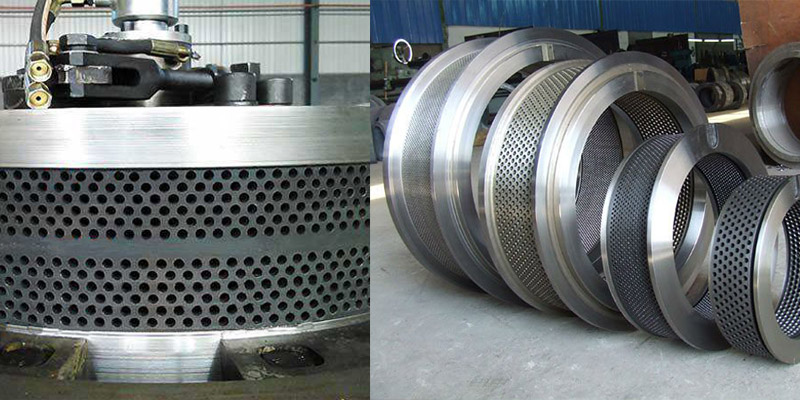 a picture of ring dies for vertical and horizontal pellet mills