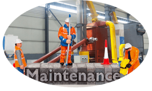 a picture of wood pellet machines maintenance