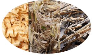 different raw materials to make wood pellets