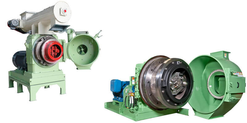 a picture of different gemco ring die pellet mills