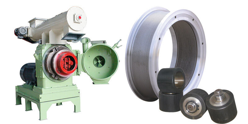 ring die and rollers of pellet mill