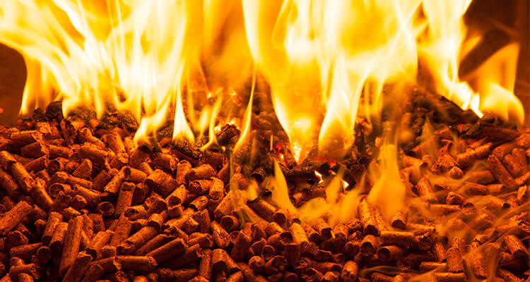 a picture of wood pellet combustion performance