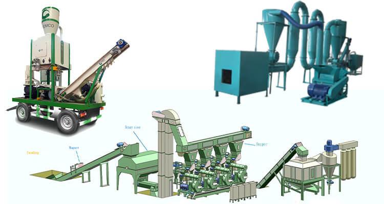 biomass pellet line types