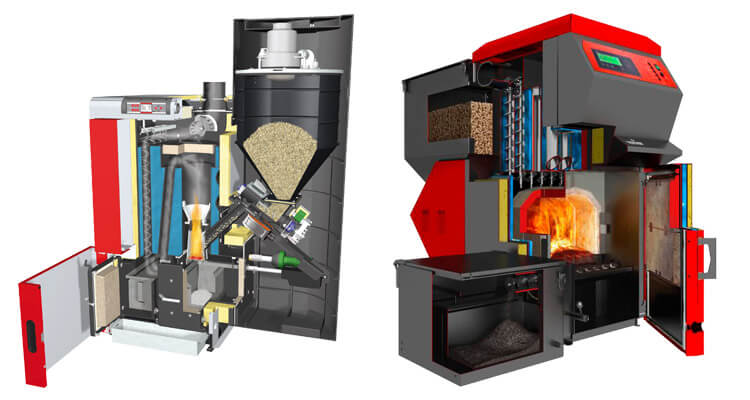pellet boilers for industrial plants