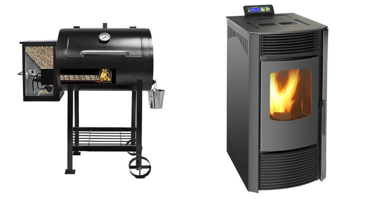 a picture of pellet grill and pellet stove