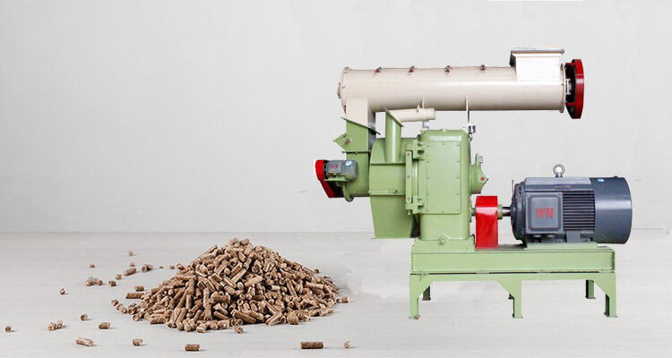 a picture of wood pellet making machines